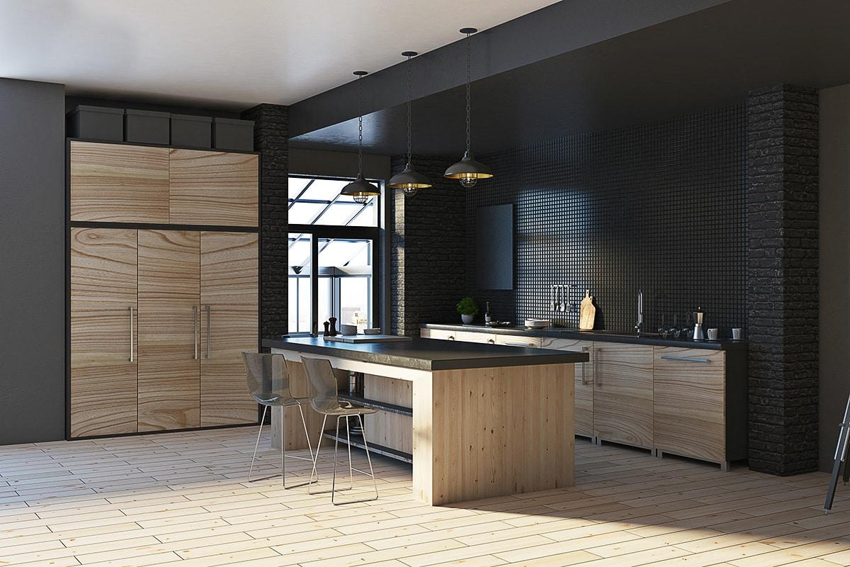 cuisine-bois-et-noir